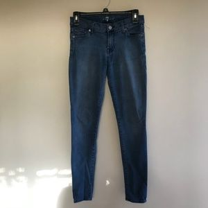7 FOR ALL MANKIND Blue The Skinny Jean sz 26